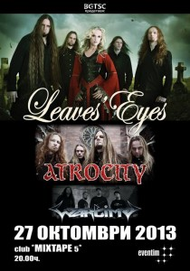 LEAVES' EYES и ATROCITY POSTER 2013